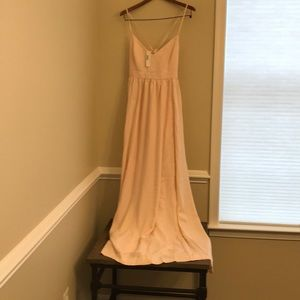 NWT Jcrew size 16 light peach long maxi gown